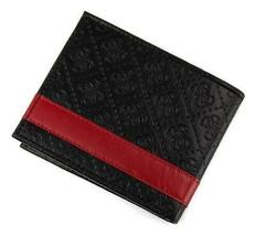 New Guess Men's Leather Credit Card ID Wallet Passcase Billfold Black 31GU13X008 image 5