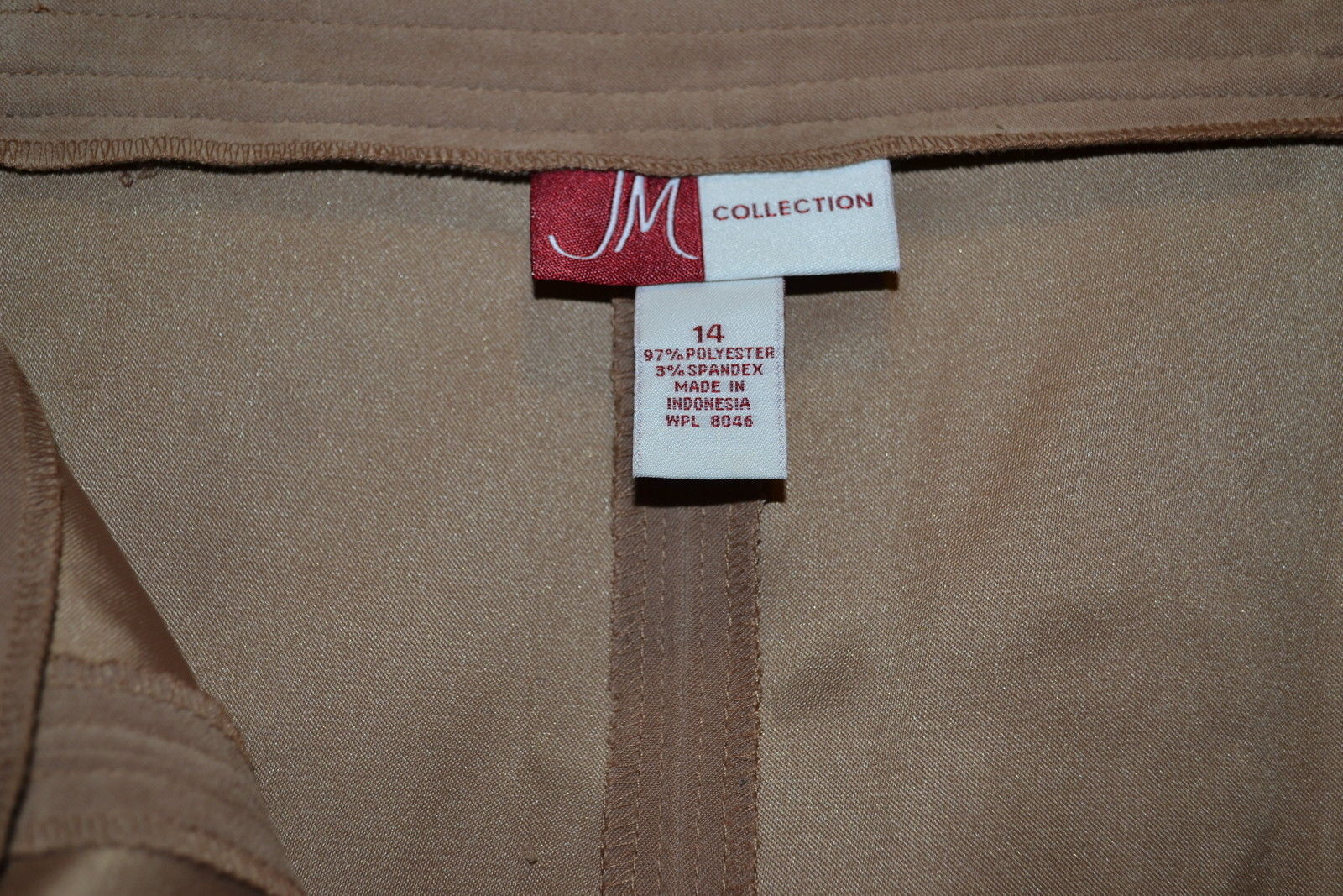 """Size 14 Waist 36"""" Keen Camel Brown Colored Skirt by JM CollectionsRox178"""