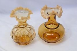 """Vintage Fenton Brown Opalescemt Vases 6"""" Lot of 2 - $68.59"""