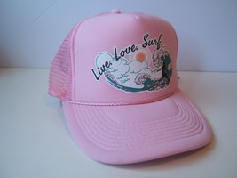Live Love Surf Scout Designs Hat Pink Snapback Trucker Cap - $23.05
