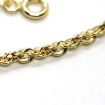 18K YELLOW GOLD ROPE CHAIN, 17.7 INCHES BRAIDED INFINITE FACETED ALTERNATE LINK image 4