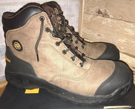 "Timberland Pro Titan Endurance 6"" Brown Leather Safety Toe Work Boots Me... - $2.730,70 MXN"