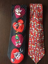 Lot Of 2 Looney Tunes Neck Ties, Classic Length, Great Condition! - $18.99