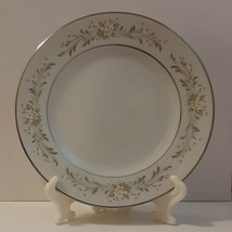 Grace Fine China RHAPSODY Bread Plate Yellow Rose Green Foliage Silver-Tone Acc - $4.50