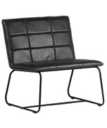 """28"""" W Modern  Occasional Chair Metal Frame  Black Leather - $519.75"""