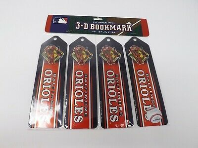 Primary image for MLB Baltimore Orioles Set of 4 Ultradepth 3D Bookmarks - New