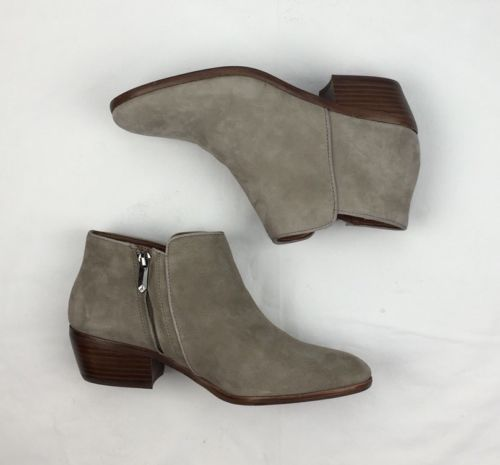 7b572053236dca WOMENS SAM EDELMAN Booties Petty Chelsea Ankle Bootie Beige Suede Leather 7  M