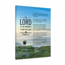 Scripture Canvas The Lord is My Shepherd Blue Sky Psalm 23 Christian Wal... - $74.36+