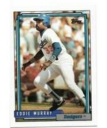 1992 Topps card #780 - Eddie Murray - LA Dodgers - NM/MINT - $0.99