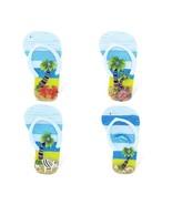 Flip Flop Refrigerator Magnets Set Of 4 Palm Tree Beach Ocean Theme Uniq... - $13.65