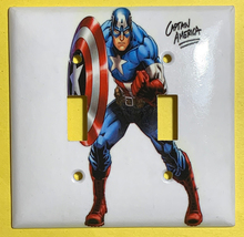 Captain America Light Switch Power Outlet Wall Cover Plate Home decor image 3