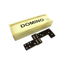 28 Piece Mini Dominoes Dominos Set w/ Travel Storage Wooden Box Case - $5.61