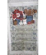 1974 CLOTH KITCHEN TOWEL CALENDAR GINGER SPICE COUNTRY THEME SEWELL JACKSON - $9.89