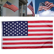 American Flag 3 X 5 Polyester Stars Stripes Metal Grommets USA Outdoor A... - $6.92