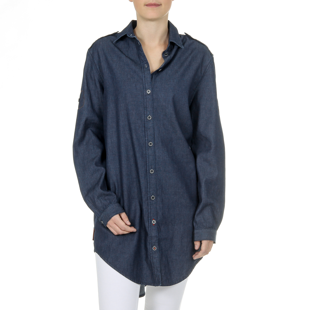 Primary image for Andrew Charles Womens Shirt Long Sleeves Denim CAMILIA