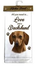 DACHSHUND RED DOG COTTON KITCHEN DISH TOWEL - $9.99