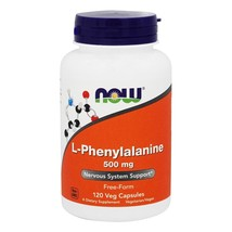 NOW Foods L-Phenylalanine 500 mg., 120 Capsules - $14.75