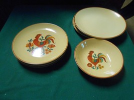 "Vintage TAYLOR SMITH & TAYLOR ""Reveille Rooster"" BERRY BOWL-4 BREAD-3 DE... - $17.04"