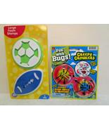 "Kids BOYS PLAY SETS Jaru Sticky Feet WALL WALKERS & 4"" Foam GAME BALL ST... - $4.34"