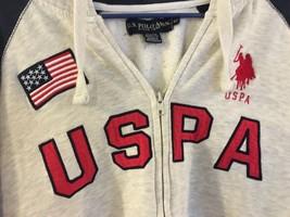 USPA Flag Red Pony Full-Zip Hoodie Gray/Navy (Size XL) 80% Cotton/20% Po... - $33.20