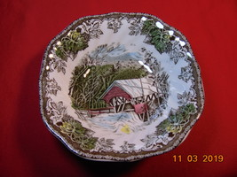"""6 1/8"""", Square Cereal Bowl, from Johnson Bros., in the Friendly Village Pattern. - $11.99"""