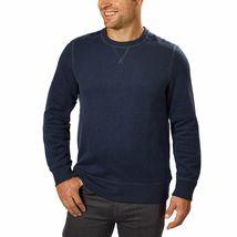 G.H. Bass & Co. Men's Crew Neck Fleece Sweatshirt Sweater Blue Green Brown NWT image 3
