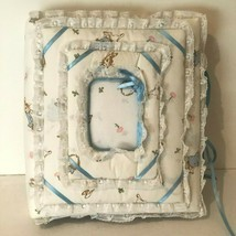 Vintage Handmade Padded Cloth Photo Album Baby Peter Rabbit Fabric Scrap... - $59.99