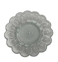 """Vintage Deviled Egg Plate Indiana Glass Serving Dish Platter 11"""" Diameter - $12.73"""