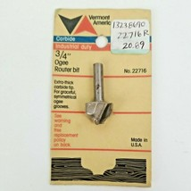 """VERMONT AMERICAN 22716 3/4"""" Industrial Duty Carbide Tipped Ogee Router Bit  - $13.50"""
