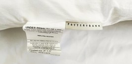 "Set Lot (2) Pottery Barn 26"" x 26"" Large Sham Polyester Pillow Insert USA Made image 2"