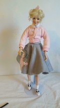 "16""ASHTON DRAKE PEGGY SUE YEARBOOK MEMORIES PORCELAIN DOLL,1950'S POODLE... - $19.79"