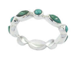 pulchritudinous Turquoise 925 Sterling Silver Multi Ring Natural common US - $24.75