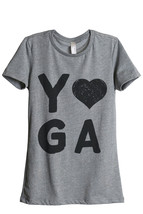 Thread Tank Yoga Heart Women's Relaxed T-Shirt Tee Heather Grey - $24.99+