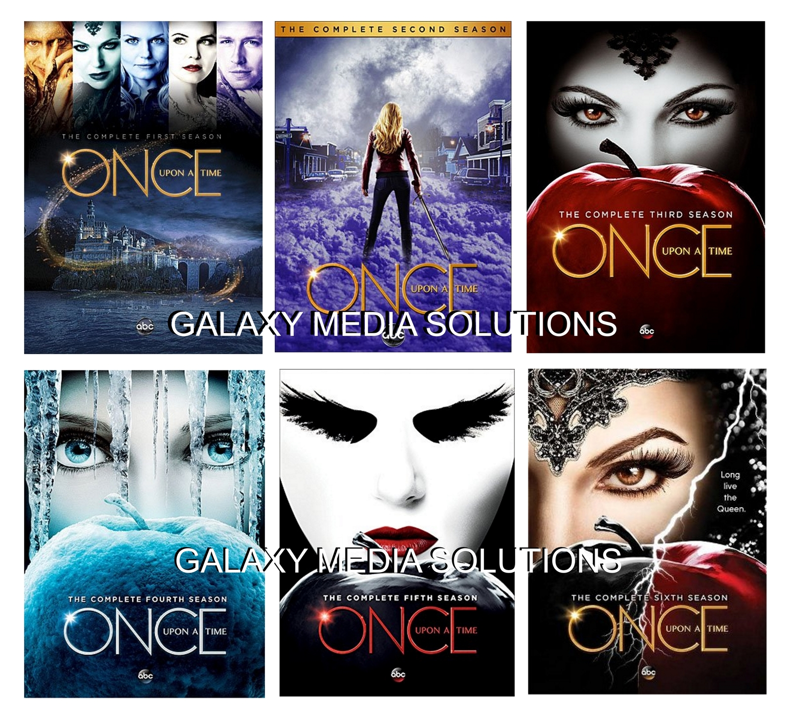 Once upon a time season one five 1 6 dvd bundle  2012 2017 30 disc  1 2 3 4 5 6 2