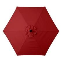 Brick Red 6 Foot Deluxe Patio Umbrella Crank Ti... - $123.95
