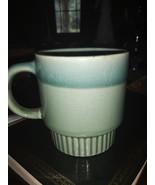 VTG Retro Green and Blue Drip Glaze Coffee Cup  - $19.99