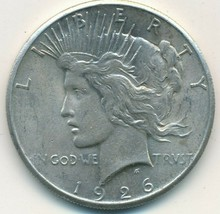 1926 PEACE SILVER DOLLAR-BEAUTIFUL UNCIRCULATED PEACE DOLLAR-SHIPS FREE!... - $62.95