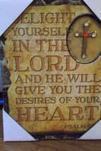delight  yourself  in the  lord  wall  hanging - $10.00