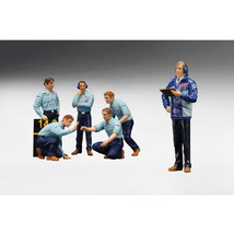 F1 Pit Crew Figures Team Tyrrell 1976 Set of 6pc 1/18 by True Scale Mini... - $93.05