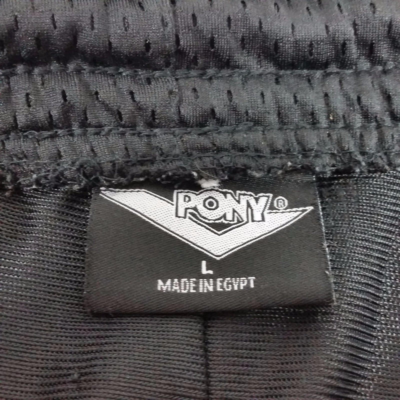 Pony Athletic Basketball Reversible Shorts Mens Large Black Red Pockets 90s
