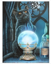 Nemesis Now: Small The Witches Apprentice Black Cat Blue Canvas by Lisa ... - €11,47 EUR