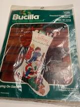 "NIP Bucilla Counted Cross Stitch Stocking Spying On Santa 18""  82104 - $19.75"