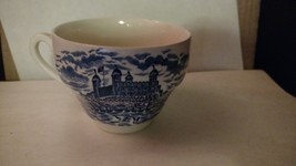 """Staffordshire Blue and White Blue Castle Coffee Cup 2 1/2"""" - $12.50"""