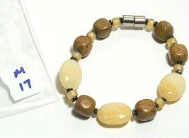 Beaded Bracelet Magnetic Hematite Clasp Single Strand   7.5 Inch   (MAG-017) image 4