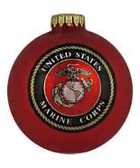 "TRUE VALUE COMPANY U.S. Marines, 3-1/4"" Glass Ornaments - $17.24"