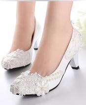 Lacy Wedding Pump Sparkling Bridal Heels Fantasy Bridal Shoes UK 2,3,4,5,6,7,8,9 - £30.95 GBP
