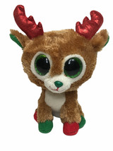 "Ty Beanie Boos Alpine Reindeer Plush 6"" Sparkle Eyes Holiday Stuffed Toy - $12.16"