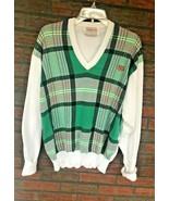 Vintage J McInerney Plaid Sweater Made in Hawick Scotland 44 Grand Cypress - $34.30