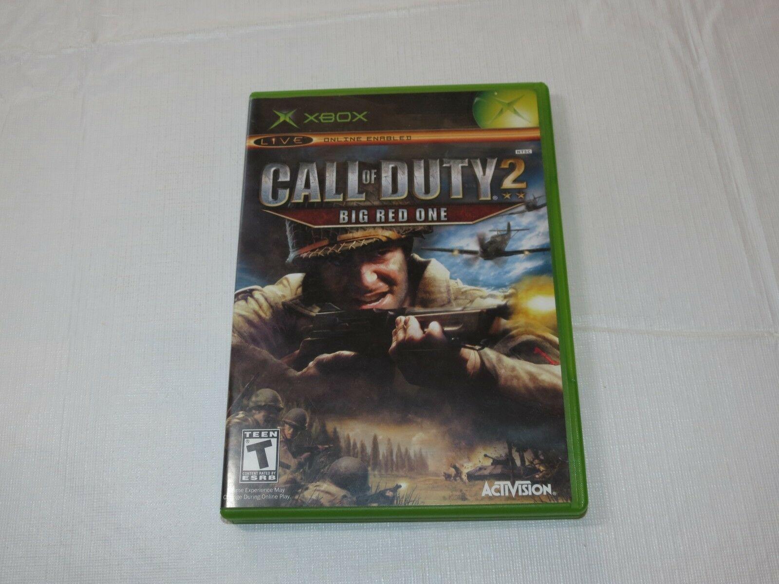 Call Of Duty 2: Grande Rosso uno Microsoft Xbox 2005 T-Teen Sparatutto Usato