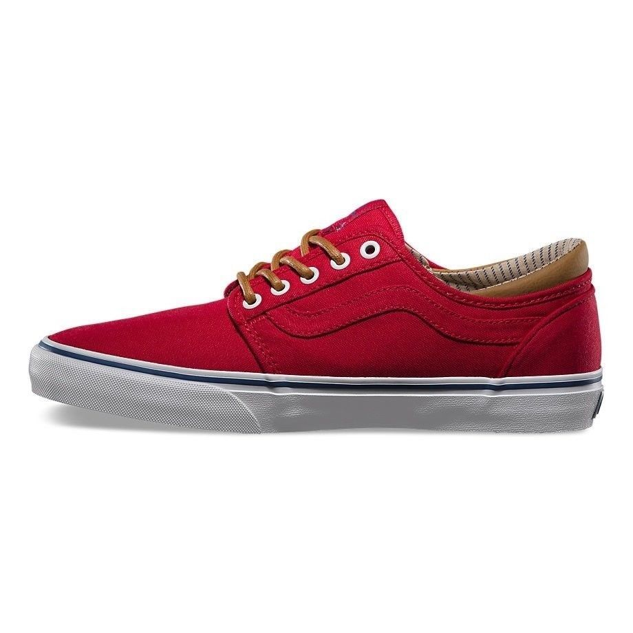 Vans Trig (Trim) Red/White Men's Authentic Classic Skate Shoes SIZE 11 image 3